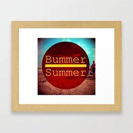 Bummer Summer Framed Art Print