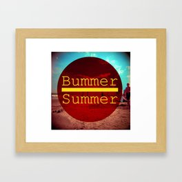 Bummer Summer Framed Art Print