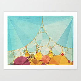 Travelling Show Abstract Circus Carnival Tent Art Print