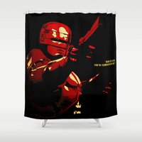 robocop Shower Curtains featuring Robocop - Alternative poster by Lorenzo Imperato