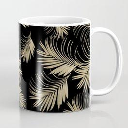 Palm Leaves Pattern - Gold Cali Vibes #5 #tropical #decor #art #society6 Coffee Mug