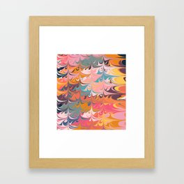 Colorful Abstract Marbled Design Framed Art Print