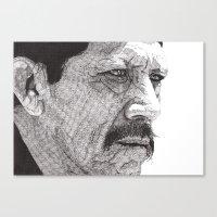 danny ivan Canvas Prints featuring Danny by Rik Reimert