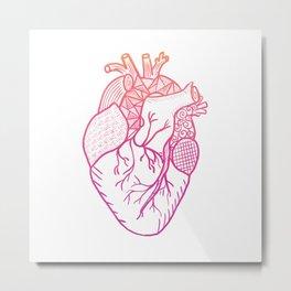 Designer Heart Metal Print