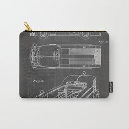 Fire Truck Patent - Fireman Art - Black Chalkboard Carry-All Pouch