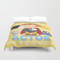 actor Duvet Covers featuring Actor by Alapapaju
