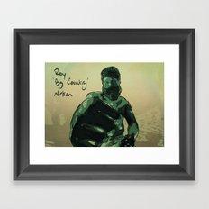 Roy 'Big Country' Nelson Framed Art Print