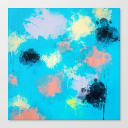 Abstract Paint splatter design Canvas Print