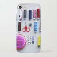 sewing iPhone & iPod Cases featuring Sewing Kit  by Honey Cupcake