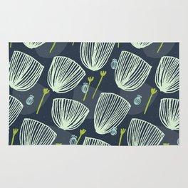 Tulip Garden M+M Navy Black by Friztin Rug