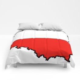 Poland Map with Polish Flag Comforters