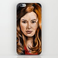 amy pond iPhone & iPod Skins featuring Amy Pond by Hannah D