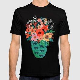 Jar with flowers, cute floral bouquet T-shirt