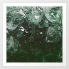Emerald Gem Art Print