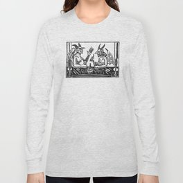 Two Devils Putting the World to Rights Long Sleeve T-shirt