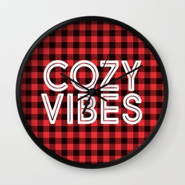 Cozy Vibes Wall Clock