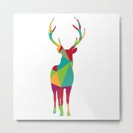 Geometric Reindeer Metal Print