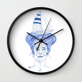 Hairsea blue Wall Clock