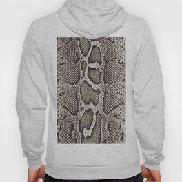 Faux Boa Constrictor Snake Skin Design Hoody