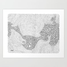 the mole's hyperacidity | white Art Print