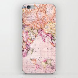 Vintage Map Pattern iPhone Skin