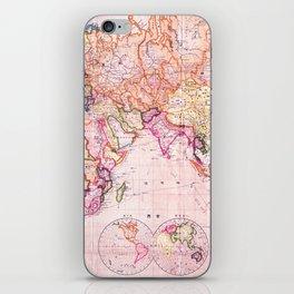 Vintage Map Pattern iPhone Skin