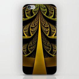 Gold-Leafed Foil Fractal Latticework for LUX VOIR iPhone Skin