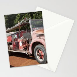 Old Fire Truck Stationery Cards