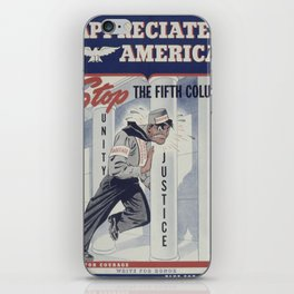 Vintage poster - Appreciate America iPhone Skin