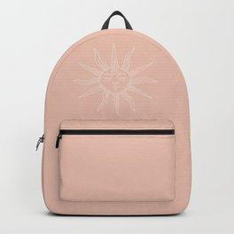 Boho Sun Drawing XXIII Neutral Pink Backpack