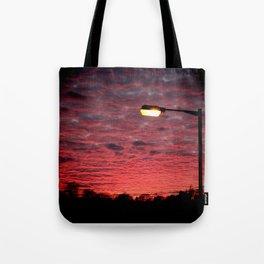 British Winter Sunset Tote Bag