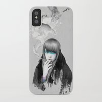 swan iPhone & iPod Cases featuring Swan Love by Ariana Perez