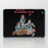 the breakfast club iPad Cases featuring Brains for Breakfast Club (white) by Ayota Illustration