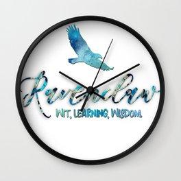 Wit, learning, wisdom Wall Clock