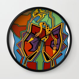 Stuck In Colour Wall Clock