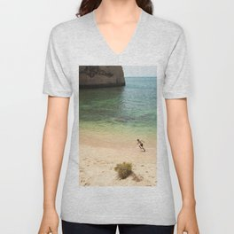 Run on the beach Unisex V-Neck