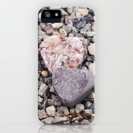 Stone hearts color version NS01A iPhone Case