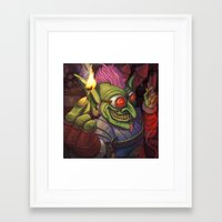 warcraft Framed Art Prints featuring The Firework Maker Goblin by foreest