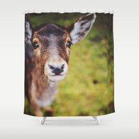 bambi Shower Curtains featuring Bambi by Bildersommer