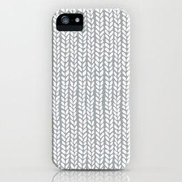 Knit Wave Grey iPhone Case