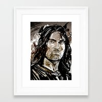 aragorn Framed Art Prints featuring Aragorn by Patrick Scullin