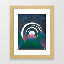 Midnight In the Mountains Framed Art Print