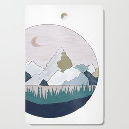 The Moon and Mountain Cutting Board