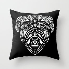 Straight Puggin' - Cream Throw Pillow