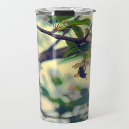 Bumble Bee Pollinating Apple Tree Travel Mug