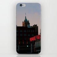 milwaukee iPhone & iPod Skins featuring Milwaukee by Tatum Kevlin