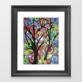 Circles abstract -3 Framed Art Print