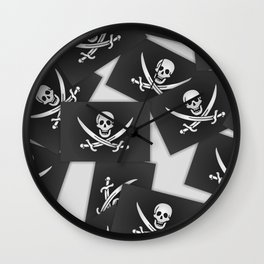 The Jolly Roger of Calico Jack Wall Clock