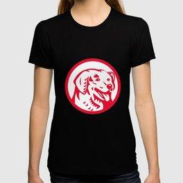 Kuvasz Dog Head Circle Retro T-shirt