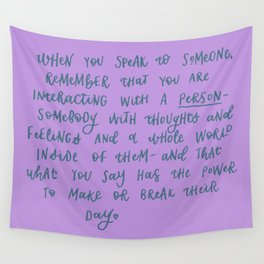Be Kind Wall Tapestry